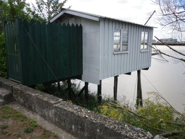Fishing cabin on The Garonne, outskirts of Bordeaux
