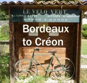 Bordeaux to Créon cyclepath