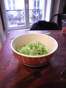 celery in a little bowl