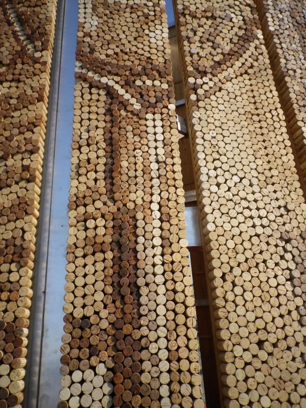 bordeaux fete le vin giant cork mosaic