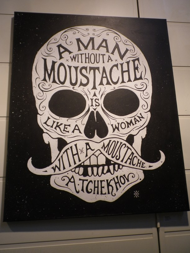 Chekhov quote moustache
