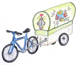 bicycle Romany gypsy caravan