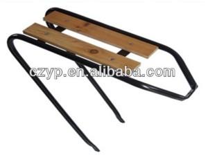 wooden bicycle luggage rack