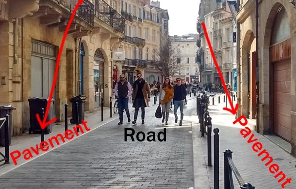 pedestrians walking in the road bordeaux